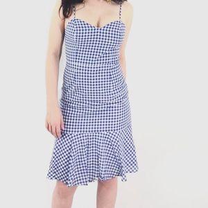 Dresses & Skirts - Blue Gingham Midi Dress